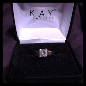 1 Ct Solitaire 14k White Gold Sz 7 engagement ring